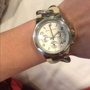 "Michael Kors ""Bone"" and Solver Twist Watch"